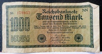 Germany 1922 1000 Mark Circulated