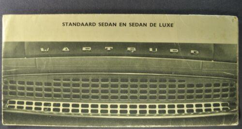 1958-1959 Wartburg 1000 Sedan Brochure DKR Germany Original Dutch Text