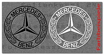 2 Retro Aufkleber altes Logo für Mercedes Modelle  100x100 mm -30 Farben- MB020
