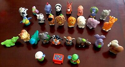Lot of 27 Fisher Price Little People Figures & Animals