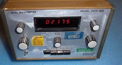 Integra Microwave Dual Wavemeter Dwm 1800 1.-18.5 Ghz Inventory 622