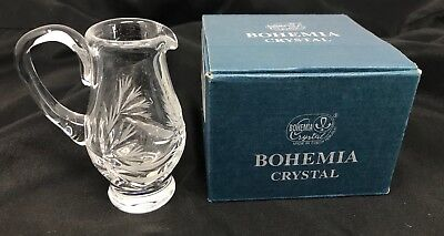 Bohemia Crystal, Creamer, Hand-cut, From Czech Republic Originally $420