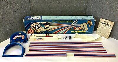 Vintage 1975 Mattel Hot Wheels LOCO-MOTION Set in Box with Warpath Car