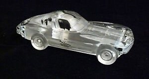 Hofbauer Crystal 1963 Corvette Stingray 24% Lead Car Retired West Germany Label