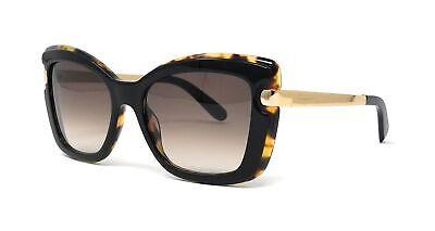 Salvatore Ferragamo Sunglasses SF814S 006 Black-Havana Butterfly Women 54x18x135