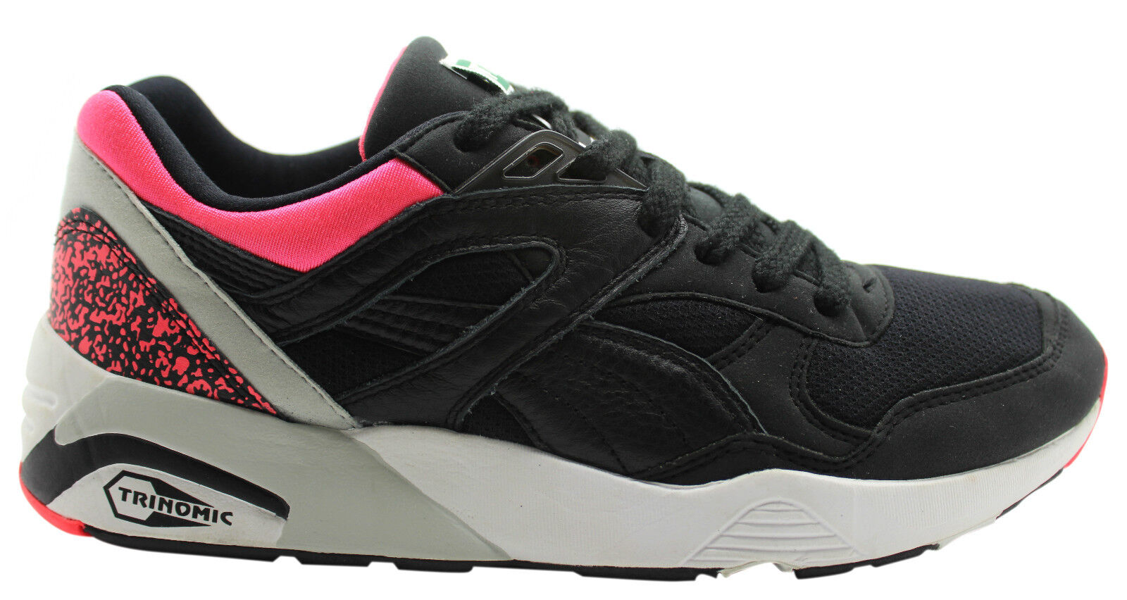 Puma Trinomic R698 OG 93 Lace Up Synthetic Mens Trainers Black Pink ... 1fb52fcd7