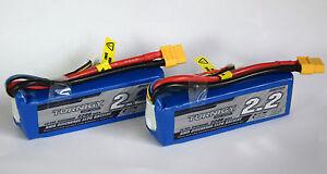 2 x Turnigy 3S Lipo Akku 11,1V 2200mAh 20-30C T-Rex Blade DJI Phantom