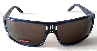 MENS SUNGLASSES BY CARRERA - X5K NR - MATTE BLACK AND BLUE - CLEARANCE PRICE
