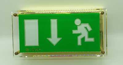 Ceag Rz 314 Cg Brass Emergency Exit Emergency Light 400 71341912 Vintage