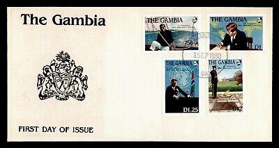 DR WHO 1988 GAMBIA FDC 25TH ANNIV JFK JOHN F KENNEDY  C239860
