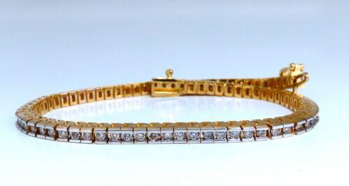 1.40ct Natural Diamonds Tennis Bracelet 14kt Gold Classic Channel Mount