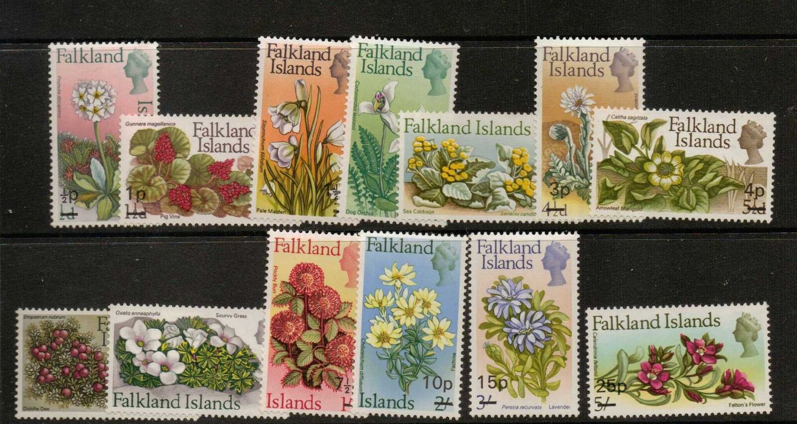 FALKLAND ISLANDS SG263/75 1971 DECIMAL CURRENCY MNH