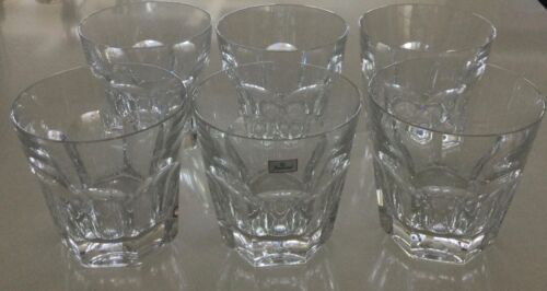 Set of 6 Baccarat Harcourt - double old fashion glass / tumbler