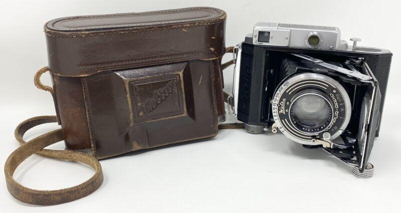 Untested Vtg Welta Weltur Compur Rapid Carl Zeiss Jena f7.5cm 2.8 Tessar Camera