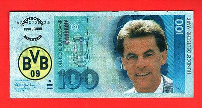o(B19-099+100)BvB-Dortmund-Ottmar Hitzfeld,,Kopie 100 DM-Schein-Meisterschaft''