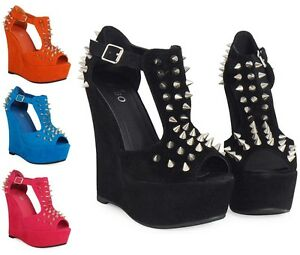 WOMENS-LADIES-SPIKE-STUD-SUEDE-PLATFORM-PEEPTOE-HIGH-WEDGE-SHOES-SIZ-3-4-5-6-7-8