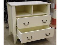 Solid wood white / ivory sideboard / dressing table 90cm x 85cm x 50cm