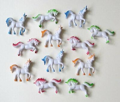 12 Plastic Unicorn Figures Princess Kid Party Favor Party Bag Favor Toy Supply