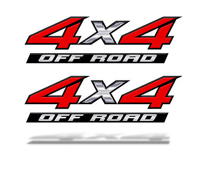 4x4 OFF ROAD RED DECALS STICKERS Truck Bed Graphics Mk001x4FMINI 8