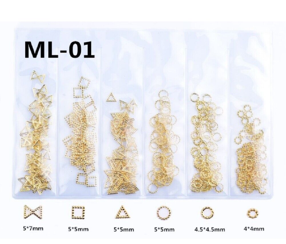 3D Metal Nail Art Decoration Ocean Rivets Gold Shell Rhinestones Manicure Tips Health & Beauty