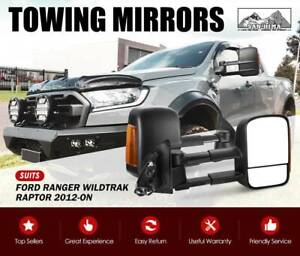 Towing Mirrors Ford Ranger Retro Fit Extendable Folding Easy Kings Beach Caloundra Area Preview