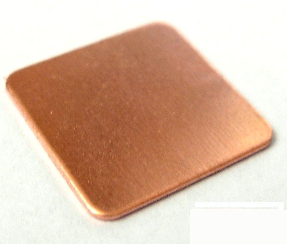 2x Dissipateur thermique pad 100/% Cuivre 15x15x0,8 mm 2x Pad Copper Heat Sink