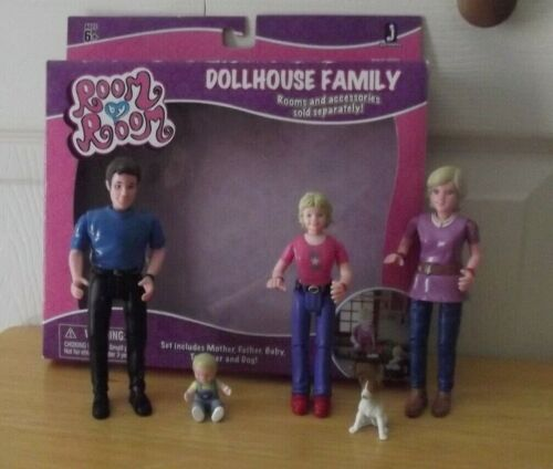 Jazwares Room by Room Doll House Family: Mother Father Baby Teenager & Pet Dog