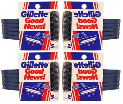 4 Pk Gillette Good News W 5 Disposable 2 Blades Razors Ea  20 Total   Rastillos