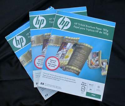 Hp Hewlett Packard Glossy White Trifold Tri-fold Printing Paper 231 Sheets