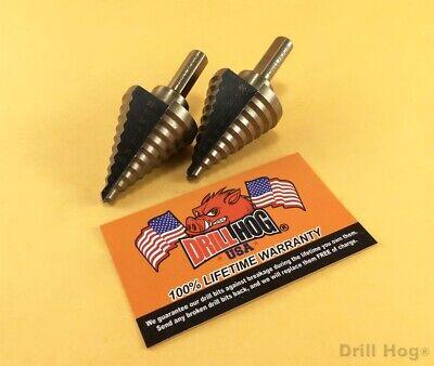 "Drill Hog® Step Drill Bit 1/4-1-3/8"" Molybdenum M7 UNIBIT 2"