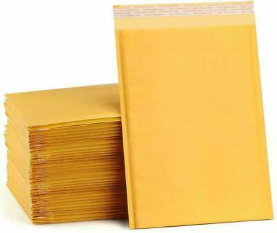 100 5 10.5x16 Kraft Bubble Padded Envelopes Mailers Bags 10.5x16