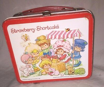 Strawberry Shortcake Aladin Lunch Box 1981 - W/O Thermos