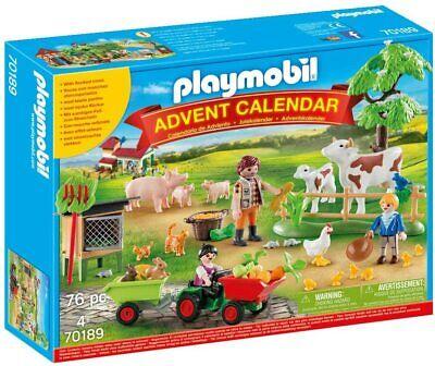 PLAYMOBIL ON THE FARM ADVENT CALENDAR CHRISTMAS 76PC BRAND NEW 70189 4+