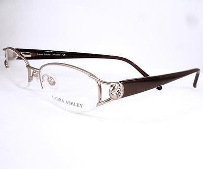 Laura Ashley Eyeglasses Melanie Gold Glow Metal Frames 49-16-135 semi rimless - Glow Eyeglasses