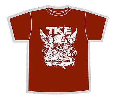 Maroon Skull Wings Shirt TKE Tau Kappa Epsilon Fraternity Teke Rush (Fraternity Rush Shirt)
