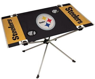 Pittsburgh Steelers Endzone Tailgate Table [NEW] NFL Portable Chair Fold Party Pittsburgh Steelers Nfl Tailgate Table