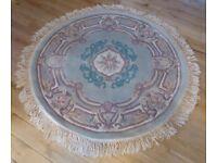 Large, round wool rug (4ft)