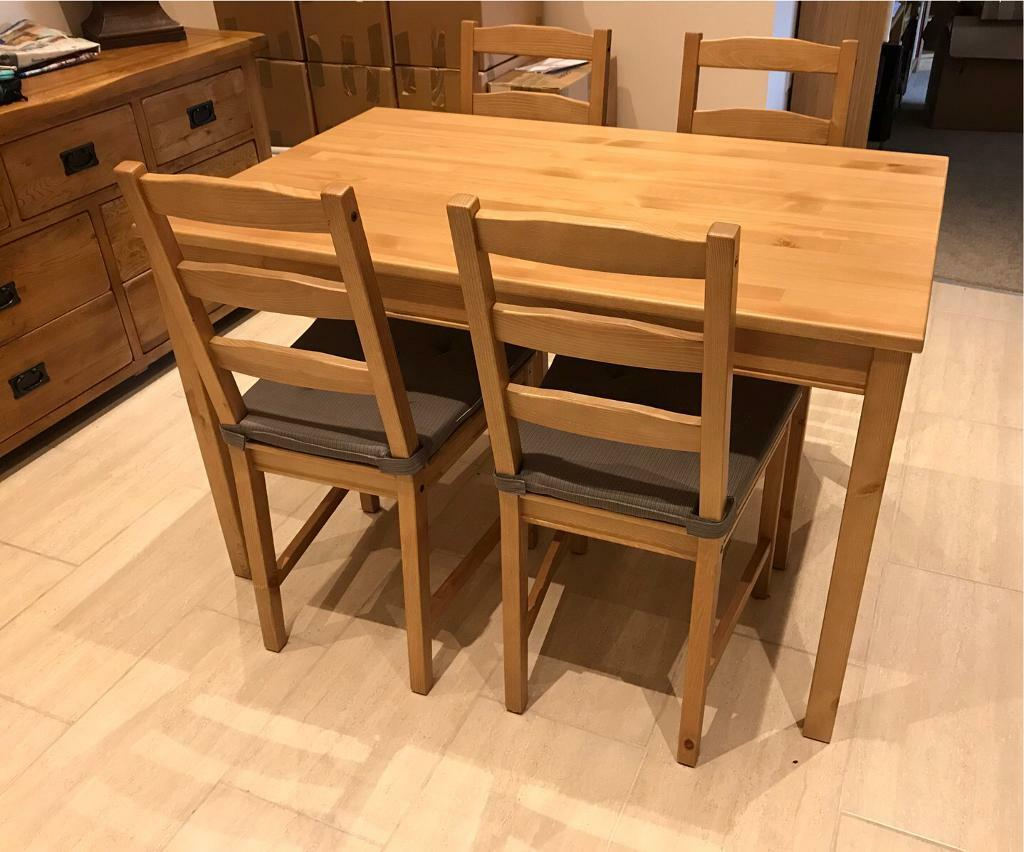 Ikea Jokkmokk Table And 4 Chairs With Cushions 6 Months Old