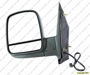 Door Mirror Power Driver Side Heated Manual Folding Textured Dual Gls Chevrolet Express Van 2008-2015