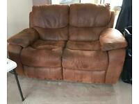 2 x 2 seater reclining sofas FREE