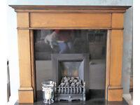 Fireplace Wooden Surround - Walnut/Oak Effect