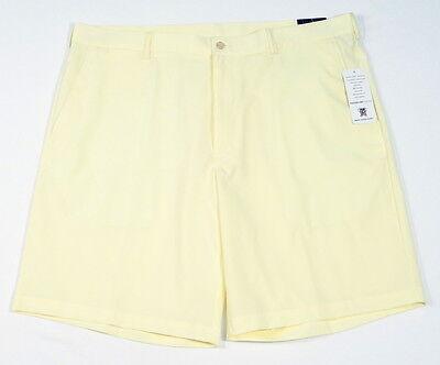 PGA Tour Yellow Clubhouse Golf Shorts Flat Front Men's NWT