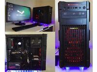 """WaterCooled Gaming PC FX6300/16GB Ram/2GB HD7850/1TB SSHD/24""""AOC LED 144hz"""