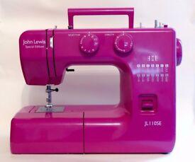 John Lewis JL110 Sewing Machine in Purple/Fuschia