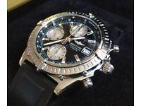 Breitling Chronomat Chronograph Watch. Original Box, Guarantee Book + COSC certificate