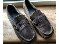 Kids Suede Casual Shoes Grey Size 13