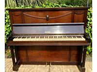 SAMES Dark Brown Upright Piano In Good Used Condition Ideal for Beginners FREE LOCAL DELIVERY