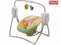 Fisher price rainforest friends space saver cradle n swing
