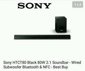 Sony soundbar and subwoofer great condition NFC