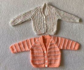 Baby Girl Hand Knitted Cardigans 3 - 6 Months
